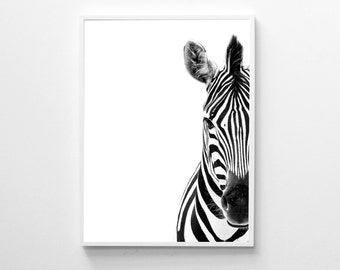 Zebra Print, Black And White, Modern Art Print, Animal Print, Zebra Poster, Scandinavian Print, Printable Art