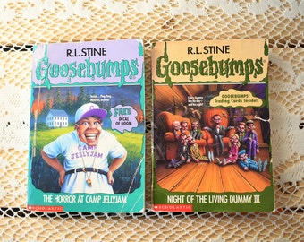 Set of 2 Vintage Goosebumps Paperback Books - Night of the Living Dummy III - The Horror at Camp Jellyjam - R.L. Stine - 1990s