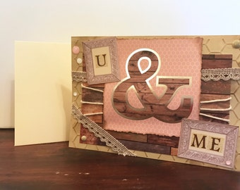 U & Me Shabby Chic Love Valentine card