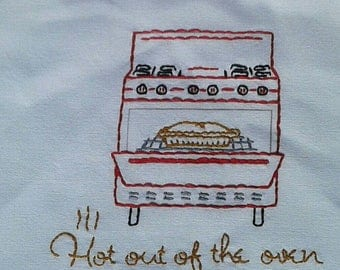 """Canvas Tote Bag """"Hot out of the Oven"""""""