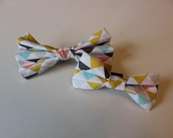 Zoe Dog Bow Tie - Pink