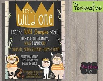 Wild One Birthday, Wild One Party, Wild One Invitation, Wild One Invite, Wild Invite, Wild, Wild One, First Birthday Invite, DIGITAL FILE