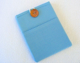 "Blue Polka Dots, IPad Mini Cover, Kindle Fire Cover, IPad Mini Case, Kindle Fire, Case, Nook Cover, Small Tablet Cover, 9 1/2"" x 6 1/2"""