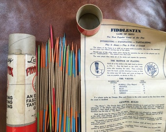 1930s/40s FiddleStix by Plaza Games with instructions