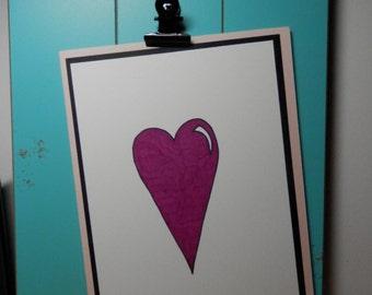 Greeting Card, Valentine Card, Heart Card, Blank Card