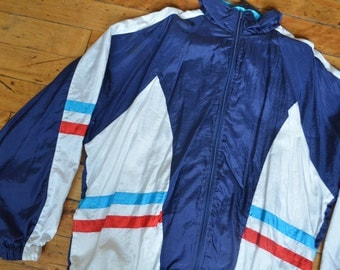 Vintage 90s Windbreaker USA Zip-Up Jacket and Pants
