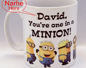 Personalised Minion Gift, Any Name, Present Gift Idea Personalized Birthday Gift
