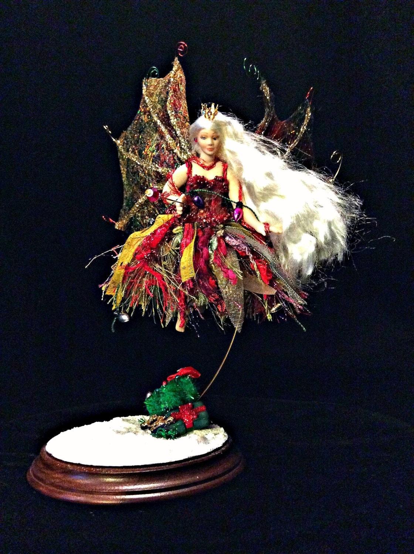 Fairy Christmas Fairy Ornament Fairy Porcelain Miniature