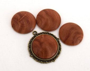 1 round cabochon of eucalyptus wood handmade (handmade product) 25mm ref CB201603