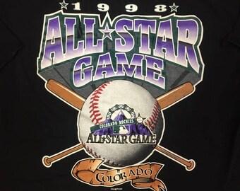 Vintage 1998 MLB All Star Game tee