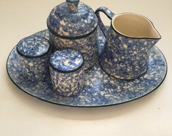Stangl Pottery Table Set Blue Town and Country