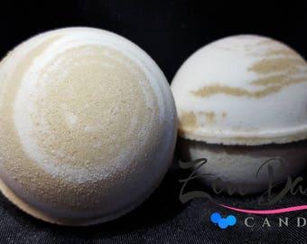 Coconut Sandalwood Bath Bomb | Bath Bombs | Bath Fizz | Vegan | Handmade