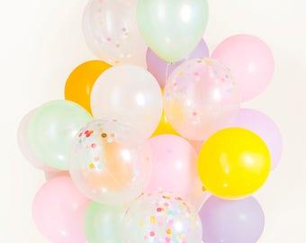 Pastel & Ice Cream Confetti Balloon Bouquet - Unicorn Celebration, Candy, Birthday, Party - AU Free Shipping
