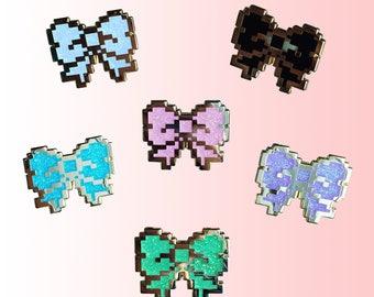8bit Pixel bows - Hard Enamel Pin