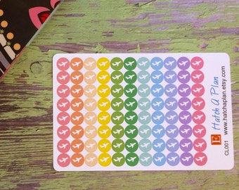 Airplane Planner Stickers | Vacation Planner Stickers | Use In Erin Condren Life Planner | Use In Happy Planner |Travel Stickers | CL001