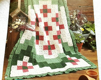 1998 The Needlecraft Shop Crocheted Bargello Garden Afghan Pattern