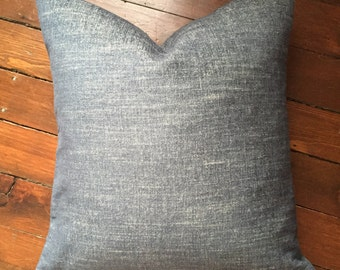 Shabby Chic Vintage Looking Denim Pillow