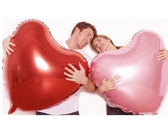 36 Inch Red Heart Foil Balloon, Pink Balloon, Pretty Balloon, Huge Balloon, Love Balloon, Helium Balloon,Wedding Balloon, Engagement Balloon