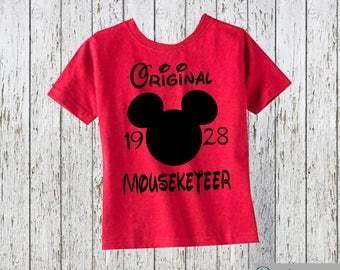Original Mouseketeer 1928 Mickey Mouse Head Shirt