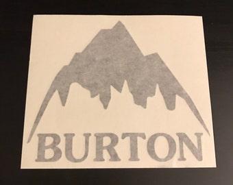 Burton Snowboard Sticker Mountain Logo Vinyl Snowboarding Skate Diecut Buy 1 Get One Free - All Sizes