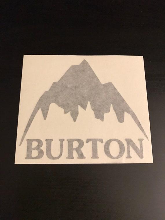 Burton Snowboard Sticker Mountain Logo Vinyl Snowboarding - Custom die cut vinyl stickers snowboard