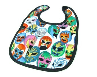 Luchador Masks Baby Bib / Customize Your Bib