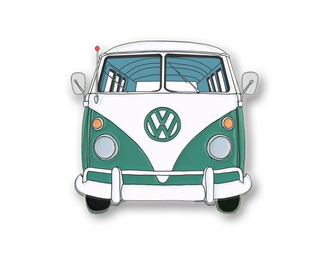 Green VW Bus Pin