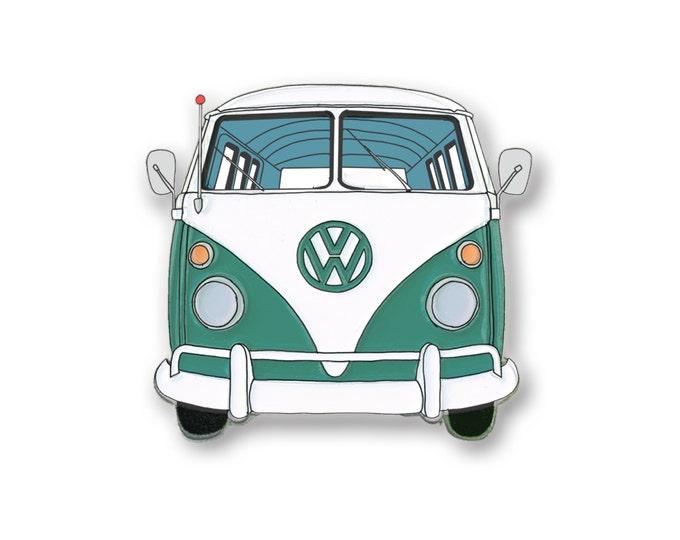 Green Bus Pin