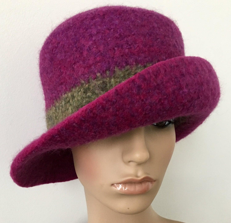 felted wool hat womens felt hats felt cloche hat by