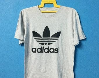 Vintage 90s adidas shirt big logo hip hop swag