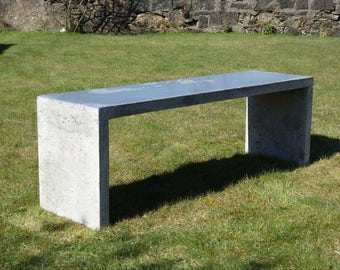 solid concrete stool bench (interior or exterior)