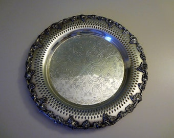 WM A Rogers Silver Plated Tray English Reproduction