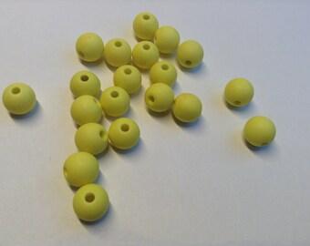 Acrylic beads bright yellow 8 mm #P15
