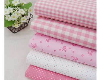 """Candy Color pink Series 20s Cotton Fabric - 44""""x35"""" - 1 Yard"""