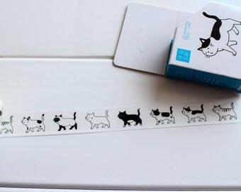 Cat Washi Tape, Animal Washi Tape, Cat Stickers, Planner Stickers, Cute Animal Washi, Cat Lovers, Cat Washi, Kawaii  (KA-112)