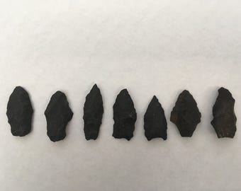 Authentic Native American Arrowheads - Ancient Indian Artifacts from Arizona -Set of 7 • Southwestern Arrowheads