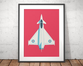 Eurofighter Typhoon RAF Jet Fighter Aircraft Poster Art Print
