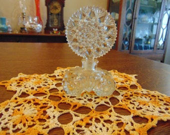 Vintage Clear Cut Glass Perfume Bottle (free shipping)