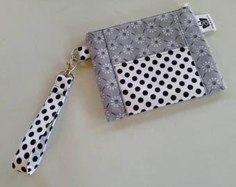 Evening Clutch, Clutch, Purse, Zippered Pouch, Phone Pouch, Monochrome Clutch, Evening Bag, Wallet, Wristlet Clutch, Bag