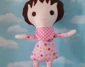 Baby Girl Doll- Pink Pajamas