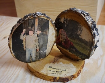 Wooden foto frame with your foto!