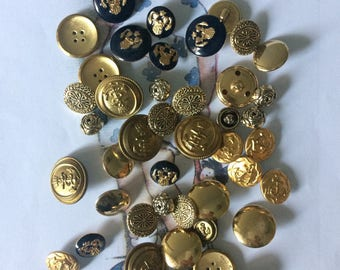 Mixed metal gold vintage buttons