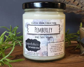 LARGE Pemberley 8 oz. Soy Candle
