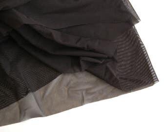 Black Sheer Lining, Sheer tricot, Sheer Nylon, Bramaking lining