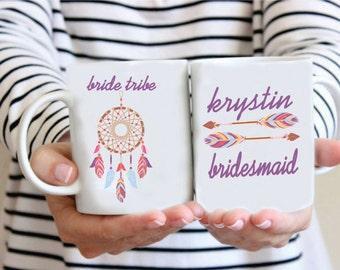 Custom Bride Tribe  Mug - Custom Dream Catcher Bride Tribe Coffee Mug - Custom Bridesmaid Mug - Bridesmaid Mug - Wedding Planning Mug
