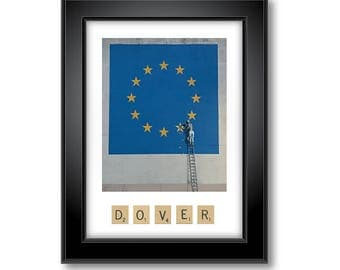 Banksy Dover Stars Mural with Scrabble Print - Portrait