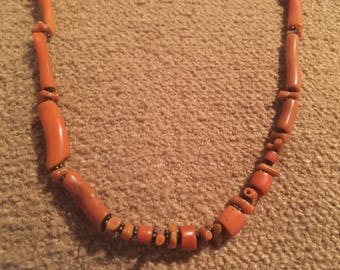 Beautiful Vintage Red Coral strand of beads.