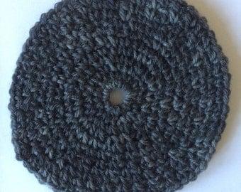 Grey Crochet Coasters - Set of 4 Grey Coasters - Round Coasters - House Warming Gift - Tea Coasters