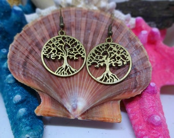 "Bronze ""Tree of Life Earrings"" - Simple yet fun, Makes a Subtle Statement,  Matches Necklaces on Site, Schel Silverstein Story, Poem, Earthy"