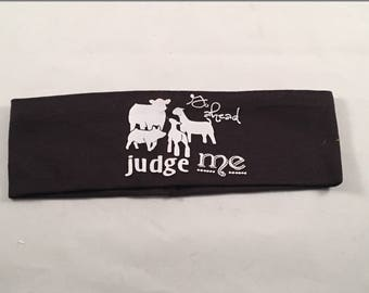 Livestock Judging, 4-H Headband, FFA Headband, Workout Headband, Show Cattle, Show Pigs, Show Lambs, Show Goats, Livestock Show, Headband
